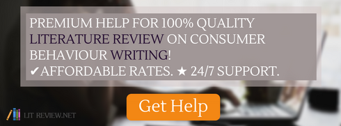 help writing review of literature on consumer behaviour