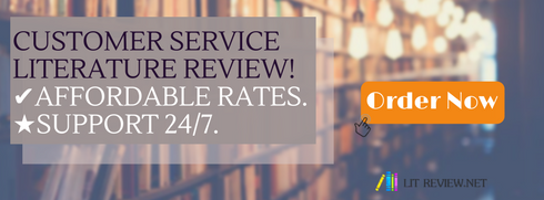 Service failure literature review
