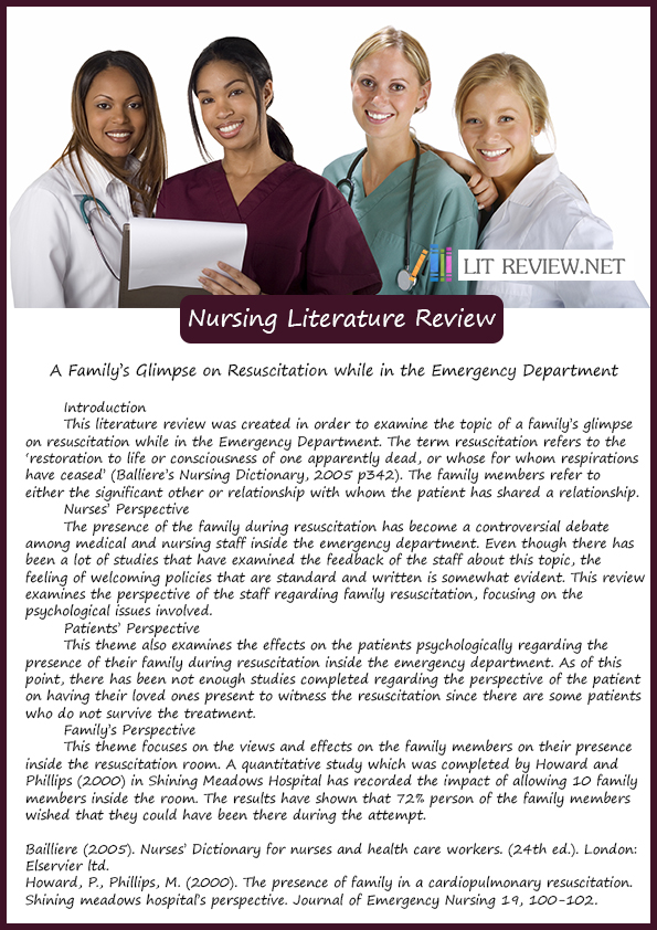 importance of review of literature in nursing research A literature review is a summary of previous research on a topic while of basic importance documents similar to importance of research in nursing.