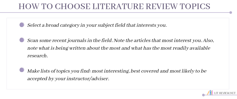 good topics for a literature review