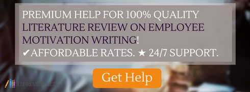literature review on employee motivation written by professionals