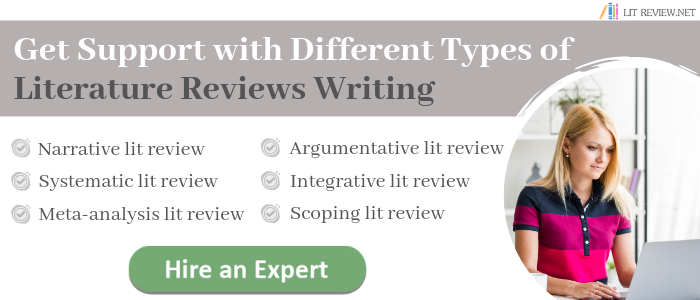 good literature review outline example