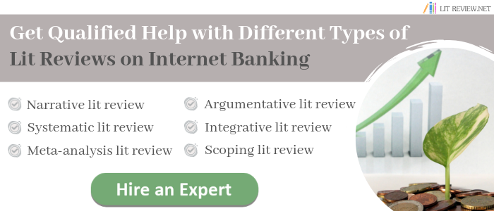 literature review on internet banking writing help