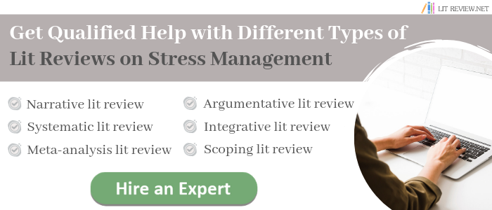 review of literature on stress writing help