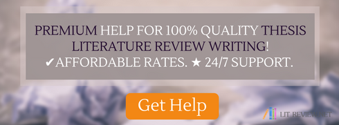 thesis literature review online