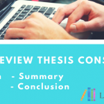 literature review thesis parts