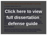 thesis defence guide