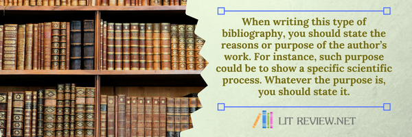 annotated bibliography advice