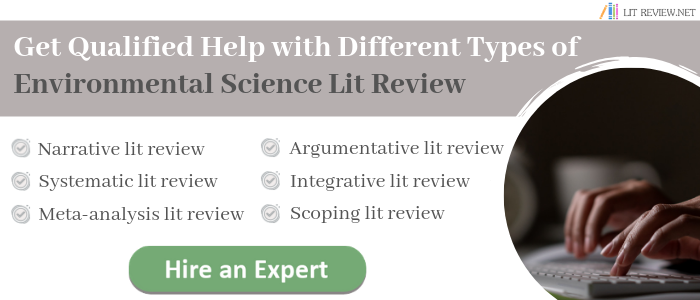 avail literature review environmental science