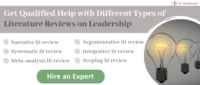 literature review of leadership writing help